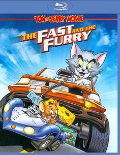 Tom and Jerry: The Fast and the Furry poster, t-shirt, mouse pad Comedy Cartoon, Cartoon Movies, Movies Playing, Kid Movies, Cartoon Sound Effects, Charlie Adler, Tom And Jerry Movies, Tom Kenny, Historia