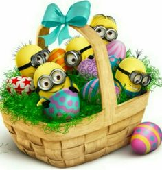 Send Easter Greetings with 'Despicable Me''s Minion Mail Image Minions, Cute Minions, Minions Despicable Me, Minion Rock, My Minion, Minion Easter Eggs, Minion Mayhem, Easter Egg Basket, Minion Banana