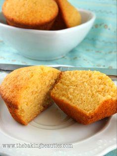 Light Gluten-free Buttermilk Cornbread Muffins | The Baking Beauties