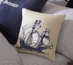 Palmer Pirate Decorative Sham #PotteryBarnKids