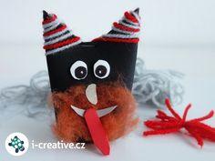 cert-z-rulicky Satan, Drink Sleeves, Advent, Christmas Ornaments, Halloween, Holiday Decor, Creative, Internet, Ideas