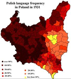 - The frequency of the Polish language in Poland in 1931.