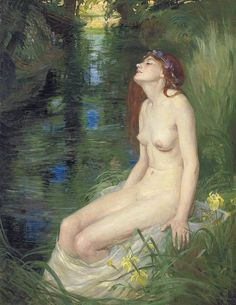 Reginald Granville Eves (English, 1876-1941). A Nymph Beside a Pool, 1910