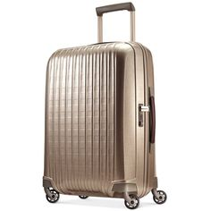 """Hartmann InnovAire 27"""" Medium Journey Hardside Spinner Suitcase ($550) ❤ liked on Polyvore featuring bags and luggage"""