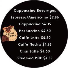 Customizable Coffee Shop Menu Board : Front
