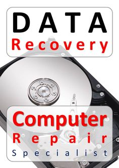 Promotes data recovery services and reinforces your role and position as a repair specialist