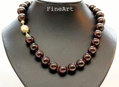 Granat - For Mom Granat Collier 45cm Magnet Geschenk - ein Designerstück von FineArt-Loomis bei DaWanda
