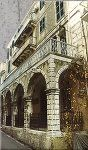 This is an example of a preserved Venetian mansion in town. You can see the characteristic Renaissance porch at the front, which forms a balcony on the first floor. Corfu Greece, Balconies, Venetian, Renaissance, Islands, Porch, Medicine, Louvre, Floor