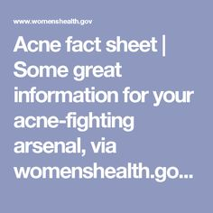 Find out answers to questions about acne from the Office on Women's Health. Clear Skin Diet, How To Get Rid Of Pimples, Natural Home Remedies, Arsenal, This Or That Questions, Natural Remedies