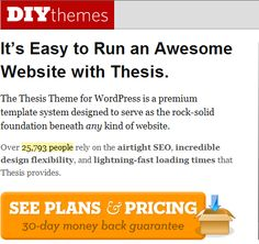 Thesis     By DIYthemes Offers New Features   WPHUB
