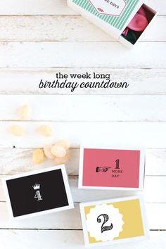 16 Long Distance Birthday Ideas To Make Anyone Smile   DIY Birthday Countdown Gift for when you celebrate a birthday far away