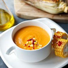 Zupa z pieczonej dyni i pomidorów | Kwestia Smaku