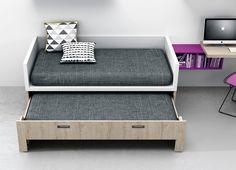 Dormitorios juveniles| Habitaciones infantiles y mueble juvenil Madrid: Camas compacto juveniles de igual medida la cama de arriba que la de abajo.Camas gemelas