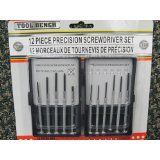 12 Pieces Precision Screwdriver Set, PHillips and Slotted.