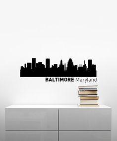 Loving this 'Baltimore' Skyline Wall Decal on #zulily! #zulilyfinds