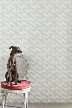 Squint your eyes to get the picture: a large scale, contemporary houndstooth from a far, lovingly entwined racer dogs up …