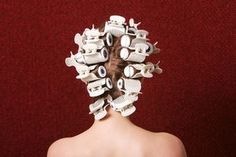 How to Use Hot Rollers to Tame Frizzy Hair Using Hot Rollers, Medium Hair Styles, Long Hair Styles, Victorian Hairstyles, Bouncy Curls, Hair And Beauty Salon, How To Curl Your Hair, Beard No Mustache, Dyed Hair