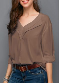 trendy tops for women online on sale Trendy Tops For Women, Blouses For Women, Kurta Designs, Blouse Designs, How To Roll Sleeves, Shirt Blouses, Chiffon Tops, Fashion Outfits, Long Sleeve