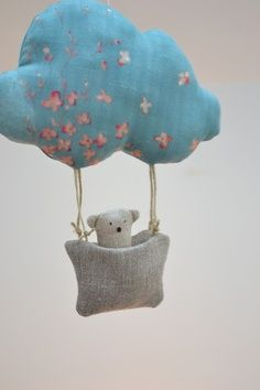via les pommettes du chat Softies, Plushies, Sewing Toys, Sewing Crafts, Sewing Projects, Baby Mobile, Fabric Dolls, Handmade Toys, Stuffed Animals