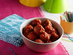 Mini Turkey Meatballs recipe from Giada De Laurentiis via Food Network