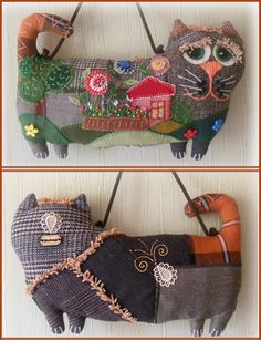 trendy sewing projects for cats ideas Cat Crafts, Sewing Crafts, Sewing Projects, Sewing Ideas, Fabric Dolls, Fabric Art, Comic Cat, Raising Kittens, Kids Blankets