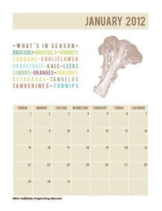 Use this printable calendar to keep up with what's in season each month.