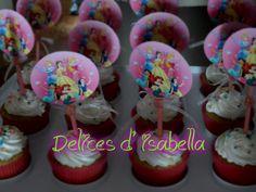cupcakes princesas...dulzura hecha pastel
