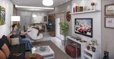 Sala de estar do apartamento Vista Bonita - Imóvel em Lajeado.
