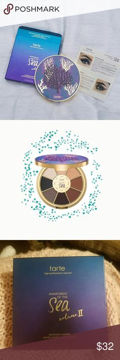 Tarte eyeshadow palette NEW! Tarte's Rainforest of the Sea vol 2 Never opened. If have any questions please ask. Tarte Makeup Eyeshadow