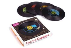 Retro Vinyl  Record Drink Coasters