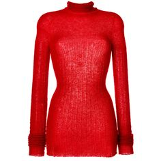 Lost & Found Ria Dunn roll neck jumper (2,895 CNY) ❤ liked on Polyvore featuring tops, sweaters, red, roll neck top, roll neck jumper, jumper top, red jumper and red sweater