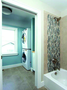 Hall bathroom ideas laundry room bath and traditional basement decorating small remodel Laundry Bathroom Combo, Hall Bathroom, Laundry Room Organization, Laundry Room Design, Bathroom Ideas, Bathroom Designs, Laundry Rooms, Small Laundry, Bathroom Small