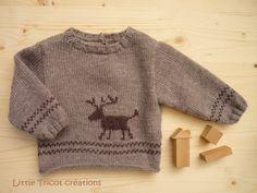 2) Pull en laine beige (12 mois) - motif renne - Pure laine mérinos superwash Jersey Jacquard, Pull Jacquard, Rico Design, Knit Wrap, Baby Knitting Patterns, Baby Wearing, Wool Sweaters, Pulls, Merino Wool
