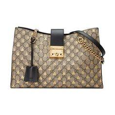 Trendy Women s Bags   Padlock GG Supreme Canvas Bees Medium Shoulder Tote  Bag by Gucci. Gucci shoulder… f42271da53