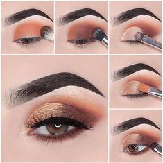Stunning Eye Make-Up Tutorials! - - - - Stunning Eye Make-Up Tutorials! – – maquillage beauté Atemberaubende Augen Make-up Tutorials! Summer Eye Makeup, Gold Eye Makeup, Cut Crease Makeup, Eye Makeup Steps, Makeup Eye Looks, Eye Makeup Art, Smokey Eye Makeup, Eyeshadow Makeup, Makeup Tips