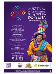 Afiche Festival Internacional de la Memoria Indigena