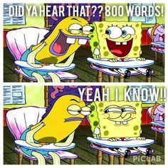 Essays. Spongebob. Excited. Funny