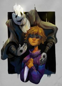 Was Slain By BigGolem Gaster and Frisk