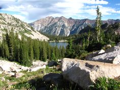 Mt. Superior 11,040'. View from above Red Pine Lake.  Photo by John Davies