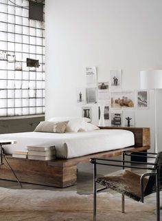 Bedroom, chambre, white, blanc
