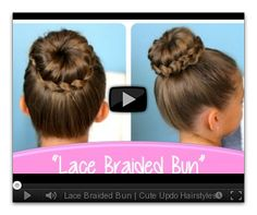 Lace Braided Bun Cute Updo Hairstyles Cute Girls Hairstyles with size 1208 X 762 Braided Bun Hairstyles Step By Step - Every bride needs that perfect Cute Hairstyles Updos, Braided Bun Hairstyles, Dance Hairstyles, Little Girl Hairstyles, Braided Updo, School Hairstyles, Style Hairstyle, Wedding Hairstyles, Amazing Hairstyles