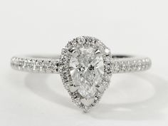 Pear shape #diamond #engagementring.The signature of the collection and a symbol of faithfulness.