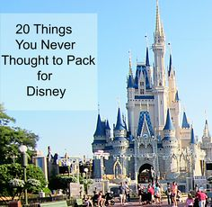 20 things you never thought to pack for Disney - Travel Tips
