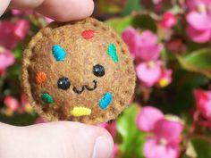 Felt Rainbow Chip Cookie Magnet by MerusHandmadeHaven on Etsy, $7.00