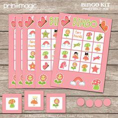 Princess Bingo Printable Party Game Printable PDF by printmagic Princess Bingo, Princess Birthday Party Games, Bingo Chips, Fairy Princesses, Calling Cards, Activity Games, Party Printables, Princess Academy, Holiday Decor