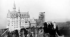 Imagen: Aspecto de la construcción de Neuschwanstein a la muerte de Luis II.