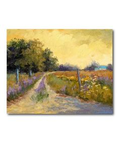 Tuscan Roadside Wrapped Canvas #zulily #zulilyfinds
