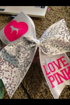 VS pink cheer bow, on etsy for $15