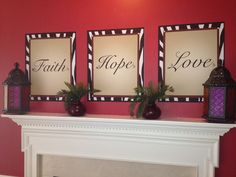 Charmant Faith Hope And Love Inspirational Christian Theme Home Decor