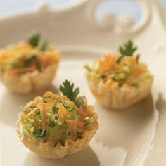 Tiny Taco Tarts - made with mini phyllo shells